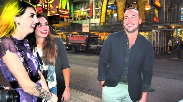 Time Square- Sarah, Lindsay and Robby