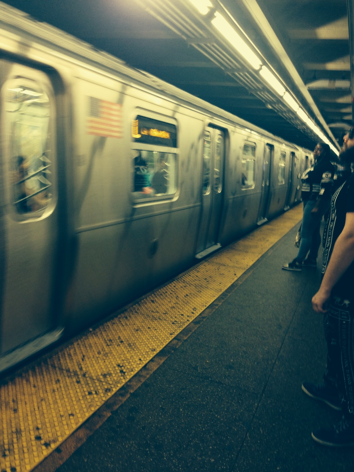 Trying out the Subway. Not bad!