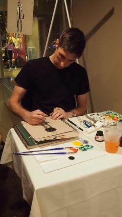 RAC Artist Painting Adrian Walker